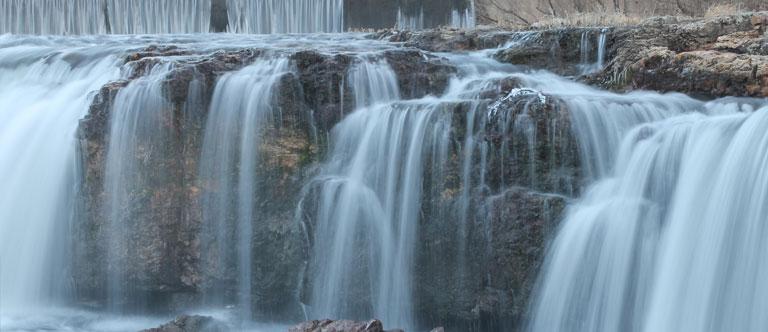 Anna Ruby Falls in Helen, Georgia